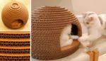 Как только из одной коробки сделать домик для кошки
